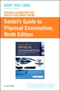 cover image - Physical Examination and Health Assessment Online for Seidel's Guide to Physical Examination (Access Code, and Textbook Package),9th Edition
