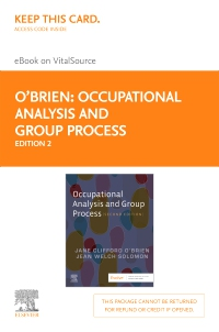 cover image - Occupational Analysis and Group Process - Elsevier eBook on VitalSource (Retail Access Card),2nd Edition