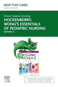 cover image - Elsevier Adaptive Quizzing for Hockenberry Wong's Essentials of Pediatric Nursing (Access Card),11th Edition