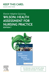 cover image - Elsevier Adaptive Quizzing for Wilson Health Assessment for Nursing Practice (Access Card),7th Edition