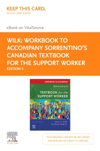 cover image - Workbook to Accompany Sorrentino's Canadian Textbook for the Support Worker - Elsevier E-Book on VitalSource (Retail Access Card),5th Edition