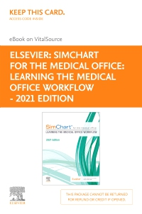 cover image - SimChart for the Medical Office: Learning the Medical Office Workflow - 2021 Edition - Elsevier eBook on VitalSource (Retail Access Card)