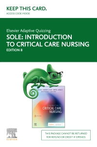 cover image - Elsevier Adaptive Quizzing for Introduction to Critical Care Nursing - Access Card,8th Edition