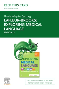 cover image - Elsevier Adaptive Quizzing for Exploring Medical Language - Access Card,11th Edition