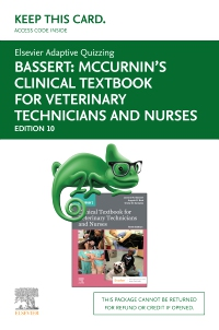 cover image - Elsevier Adaptive Quizzing for McCurnin's Clinical Textbook for Veterinary Technicians (Access Card),10th Edition