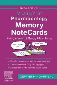 cover image - Mosby's Pharmacology Memory NoteCards - Elsevier eBook on VitalSource,6th Edition