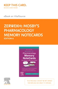 cover image - Mosby's Pharmacology Memory NoteCards - Elsevier eBook on VitalSource (Retail Access Card),6th Edition