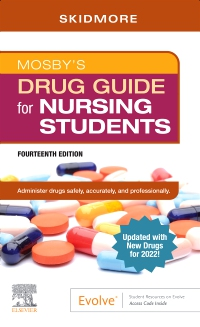 cover image - Mosby's Drug Guide for Nursing Students with 2022 Update,14th Edition