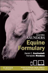 cover image - Saunders Equine Formulary,2nd Edition