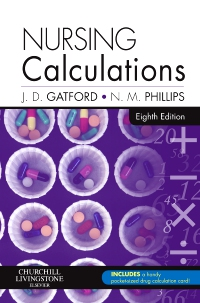 cover image - Nursing Calculations - Elsevier eBook on VitalSource,8th Edition
