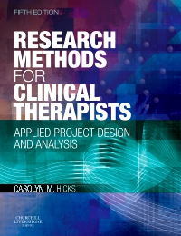 cover image - Research Methods for Clinical Therapists - Elsevier eBook on VitalSource,5th Edition