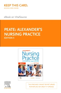 cover image - Alexander's Nursing Practice - Elsevier eBook on VitalSource (Retail Access Card),5th Edition