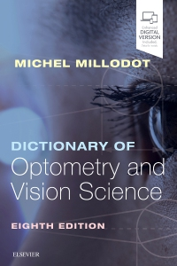 cover image - Dictionary of Optometry and Vision Science,8th Edition