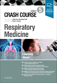 cover image - Crash Course Respiratory Medicine,5th Edition