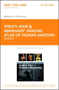 cover image - Weir & Abrahams' Imaging Atlas of Human Anatomy Elsevier eBook on VitalSource (Retail Access Card),5th Edition