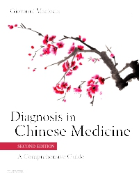 cover image - Diagnosis in Chinese Medicine - Elsevier eBook on VitalSource,2nd Edition