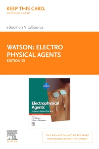 cover image - Electro Physical Agents Elsevier eBook on VitalSource (Retail Access Card),13th Edition