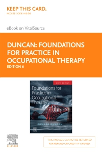 cover image - Foundations for Practice in Occupational Therapy - Elsevier eBook on VitalSource (Retail Access Card),6th Edition