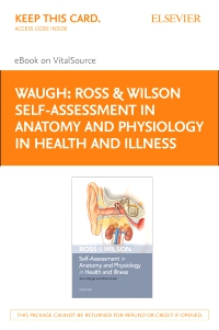 cover image - Ross & Wilson Self-Assessment in Anatomy and Physiology in Health and Illness Elsevier E-Book on VitalSource (Retail Access Card)