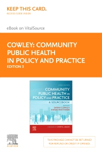 cover image - Community Public Health in Policy and Practice Elsevier eBook on VitalSource (Retail Access Card),3rd Edition