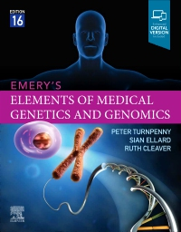 cover image - Emery's Elements of Medical Genetics and Genomics  Elsevier E-Book on VitalSource,16th Edition