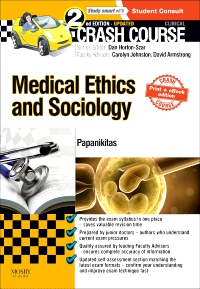 cover image - Crash Course Medical Ethics and Sociology Updated Print + eBook edition,2nd Edition