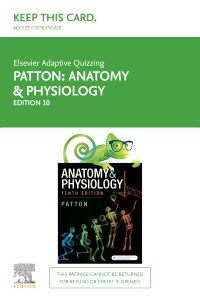 cover image - Elsevier Adaptive Quizzing for Anatomy & Physiology Australian and New Zealand 10th edition Access Card,10th Edition