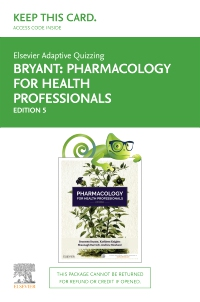 cover image - Elsevier Adaptive Quizzing for Pharmacology for Health Professionals 5th edition Access Card,5th Edition