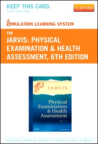 cover image - Simulation Learning System for Physical Examination and Health Assessment (User Guide and Access Code),6th Edition