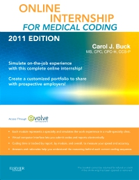 cover image - Online Internship for Medical Coding, 2011 Edition