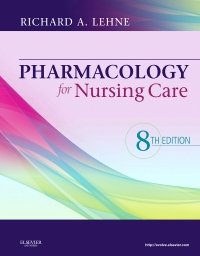 cover image - Pharmacology for Nursing Care - Elsevier eBook on VitalSource,8th Edition