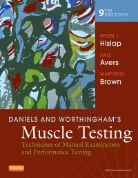 cover image - Daniels and Worthingham's Muscle Testing,9th Edition