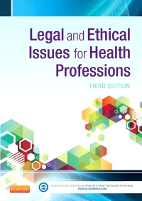 cover image - Evolve Resources for Legal and Ethical Issues for Health Professions,3rd Edition
