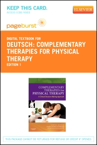 cover image - Complementary Therapies for Physical Therapy - Elsevier eBook on VitalSource (Retail Access Card)