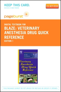cover image - Veterinary Anesthesia Drug Quick Reference - Elsevier eBook on VitalSource (Retail Access Card)