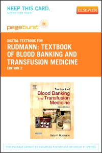 cover image - Textbook of Blood Banking and Transfusion Medicine - Elsevier eBook on VitalSource (Retail Access Card),2nd Edition