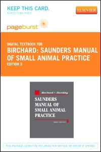 cover image - Saunders Manual of Small Animal Practice - Elsevier eBook on VitalSource (Retail Access Card),3rd Edition