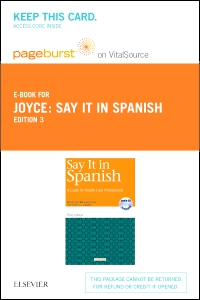 cover image - Say It in Spanish - Elsevier eBook on VitalSource (Retail Access Card),3rd Edition