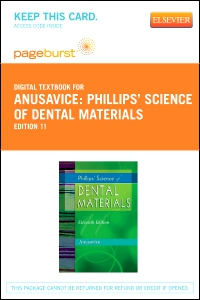 cover image - Phillips' Science of Dental Materials - Elsevier eBook on VitalSource (Retail Access Card),11th Edition