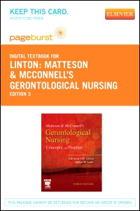 cover image - Matteson & McConnell's Gerontological Nursing - Elsevier eBook on VitalSource (Retail Access Card),3rd Edition