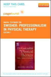 cover image - Professionalism in Physical Therapy - Elsevier eBook on VitalSource (Retail Access Card)