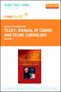 cover image - Manual of Canine and Feline Cardiology - Elsevier eBook on VitalSource (Retail Access Card),4th Edition