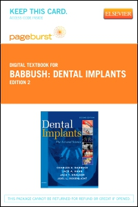 cover image - Dental Implants - Elsevier eBook on VitalSource (Retail Access Card),2nd Edition