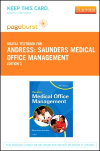 cover image - Saunders Medical Office Management - Elsevier eBook on VitalSource (Retail Access Card),3rd Edition