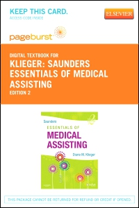 cover image - Saunders Essentials of Medical Assisting - Elsevier eBook on VitalSource (Retail Access Card),2nd Edition