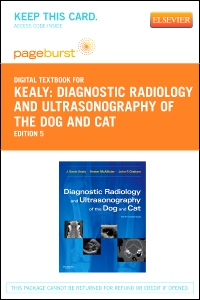 cover image - Diagnostic Radiology and Ultrasonography of the Dog and Cat - Elsevier eBook on VitalSource (Retail Access Card),5th Edition