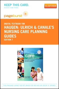 cover image - Ulrich & Canale's Nursing Care Planning Guides - Elsevier eBook on VitalSource (Retail Access Card),7th Edition