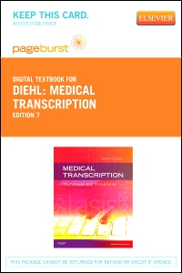 cover image - Medical Transcription - Elsevier eBook on VitalSource (Retail Access Card),7th Edition