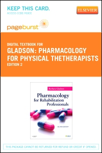 cover image - Pharmacology for Rehabilitation Professionals - Elsevier eBook on VitalSource (Retail Access Card),2nd Edition