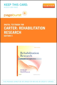 cover image - Rehabilitation Research - Elsevier eBook on VitalSource (Retail Access Card),4th Edition
